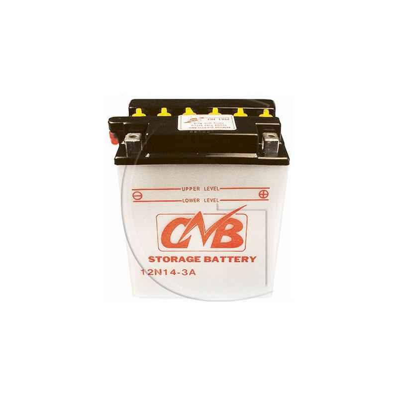 Batterie 12N14 3A - Tracteur Tondeuse Autoportée LIVRE SANS ACIDE - Batterie 12V Ref 12N14 3A