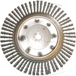 brosse de desherbage Iseki - Tiger - 175mm Diamètre trou d'axe : 25,4 mm - Diamètre extérieur : 175 mm