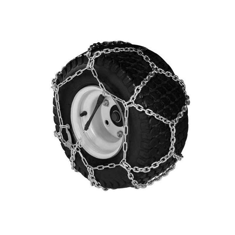 Chaines à neige pour pneumatique 18 x 6.50-8 modèle à croisillons ( la paire )