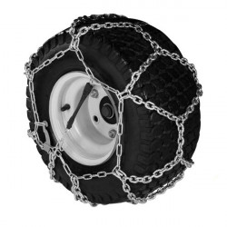 Chaines à neige pour pneumatique 18 x 9.50-8 modèle à croisillons ( la paire )