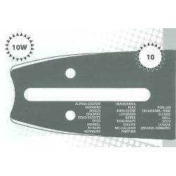 Guide tronçonneuse 35 CM adaptable ECHO CS3400 type 3/8LP 1.3mm 52 Maillons