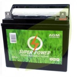 Batterie tracteur tondeuse 12V 28AH + a droite super power