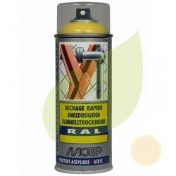 Bombe de peinture ivoire claire aérosol 400 ml