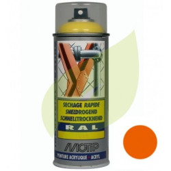 Bombe de peinture orange AS MOTOR aérosol 400 ml