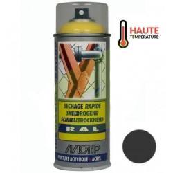 Bombe de peinture NOIR MAT HAUTE TEMPERATURE aérosol 400 ml