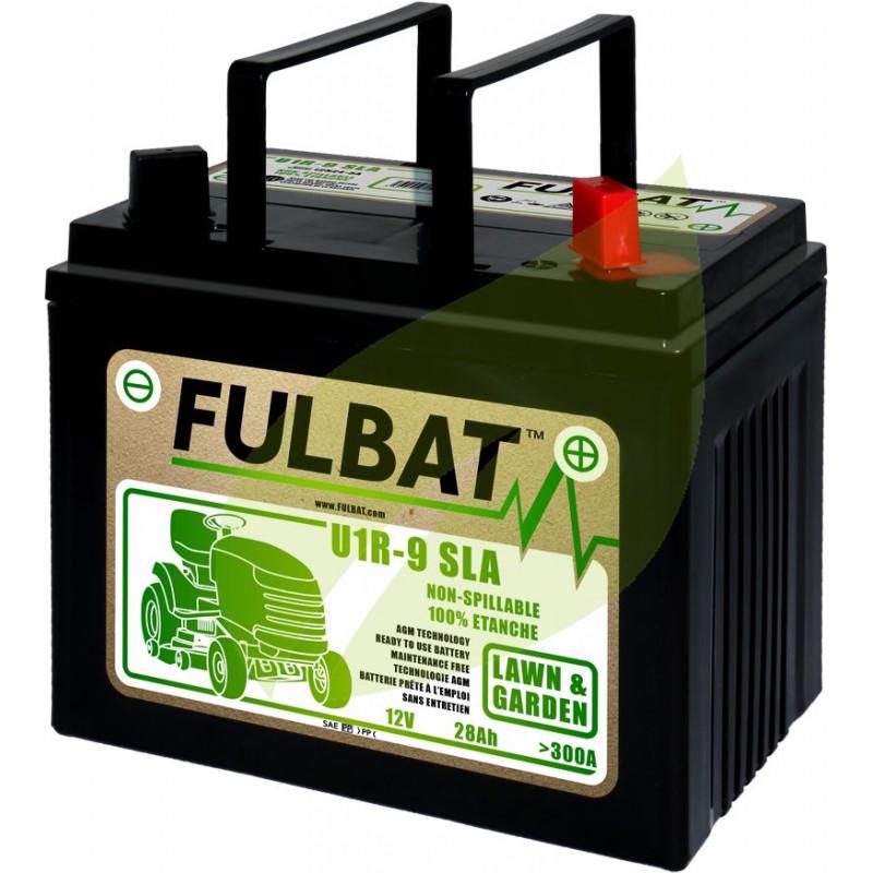 Batterie tondeuse autoportée 12V 28AH - 12N24-3A - + a droite