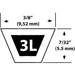 Courroie chasse neige STIGA 825T – 1812-9010-01 – Courroie de transmission - Vue détaillée