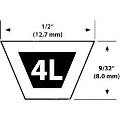 Courroie tondeuse MURRAY 11/35 – 37X39, 37X43 – Courroie de coupe -Vue détaillée
