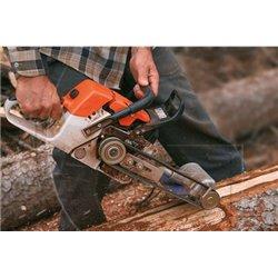 Écorceuse de buche d'arbre pour tronçonneuse