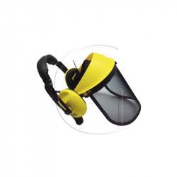 Visiere treillis avec casque anti bruit pour travaux exterieur