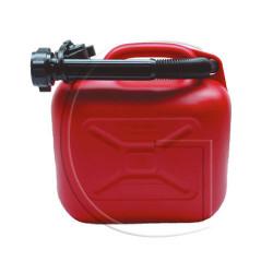 Jerrycan en plastique bidon essence 5L rouge