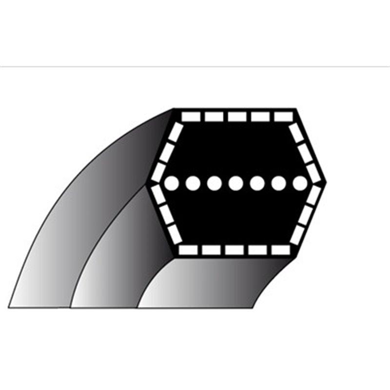 Courroie pour tondeuse SNAPPER TYPE : 4 N° D'ORIGINE : 2-2252, 1-8236 MITSUBOSHI TYPE AA71
