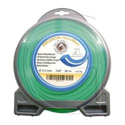 Bobine fil nylon carré pour débrousailleuse 12.20 METRES - Ø 2 MM