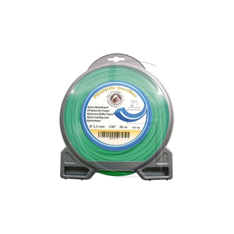 Bobine fil nylon carré pour débrousailleuse 12.20 METRES Ø 2.7 MM