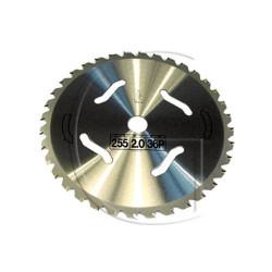 Disque de débroussailleuse - Dents Carbide 36 FACES DE COUPE - Diamètre Axe : 25,4 mm - Diamètre : 255 mm