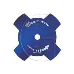 Disque de debroussailleuse - 4 Faces - 230mm Diamètre Axe : 25,4 mm - Diamètre : 230 mm - Epaisseur : 1,4 mm