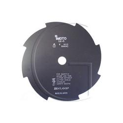 Disque de debroussailleuse - 8 Faces - 255mm Diamètre Axe : 25,4 mm - Diamètre : 255 mm - Epaisseur : 1,4 mm