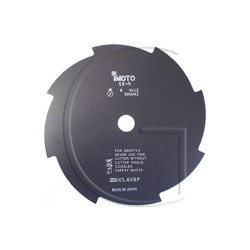Disque de debroussailleuse - 8 Faces - 230mm Diamètre Axe : 25,4 mm - Diamètre : 230 mm - Epaisseur : 1,4 mm