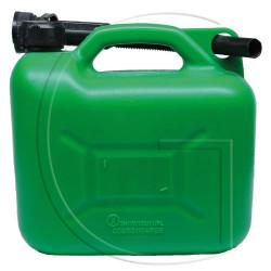 Jerrycan en plastique bidon essence 5L vert